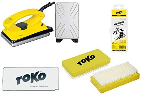 Toko Skiwachs-Set 4-teilig mit Wachsbügeleisen - für Alpin + Nordic + Board