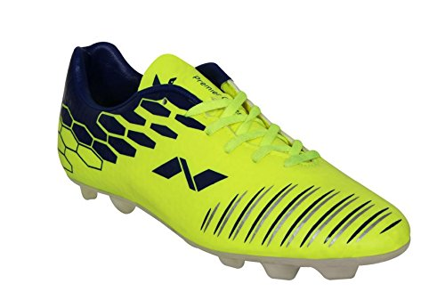Nivia Premier Cleats Football Studs, Men's 10 UK  (Yellow/Blue)