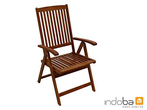 Indoba 2 x Shine-Hochlehner-Serie Sun Shine-IND-70302-ST Gartenstuhl, braun, 56 x 71 x 105 cm