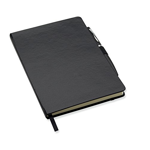 A6 notebook with pen - black for sale  Delivered anywhere in UK