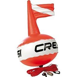 Cressi Bouée de compétition Couleur Rouge vif + drapeau de signalisation