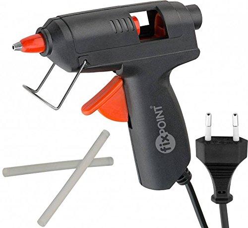Preisvergleich Produktbild Fixpoint 59175 10W mini Heißklebepistole für 8mm Klebesticks zum sauberen Kleben den Hobby- und Heimbereich, schwarz