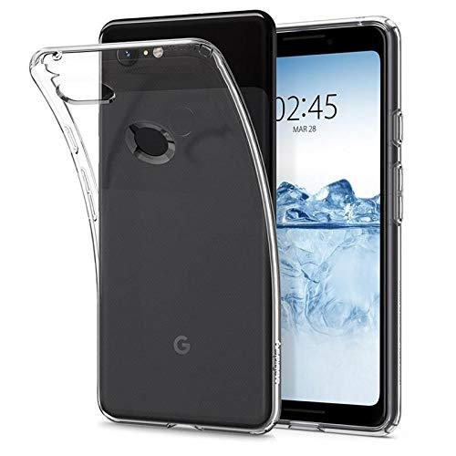 Spigen Liquid Crystal, Google Pixel 3 Hülle, F19CS25032 Transparent TPU Silikon Handyhülle Durchsichtige Schutzhülle Flex Case (Crystal Clear)
