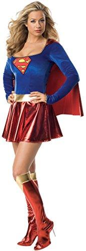 KULTFAKTOR GmbH Supergirl Damenkostüm Superheldin Lizenzware blau-rot -