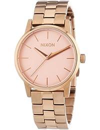 Nixon Damen-Armbanduhr XS Small Kensington All Rose Gold Analog Quarz Edelstahl beschichtet A361897-00