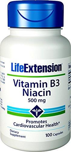 Life Extension, Vitamin B3 Niacin, 500mg, 100 Kapseln