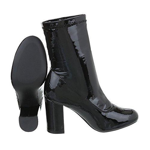 Bottines Kitten 3097 Design Ital Noir High Heel Bottes Et Chaussures fnaqnSRv