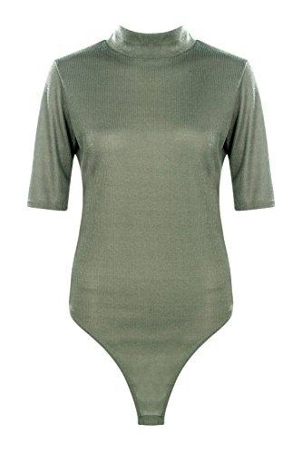 Kaki Femme Tall Ruri Body T-shirt Côtelé Kaki