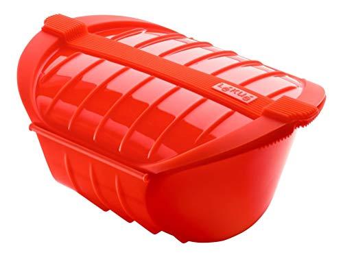 Lékué Ogya rojo Dampfbox XL in rot, Kunststoff, 1000 ml