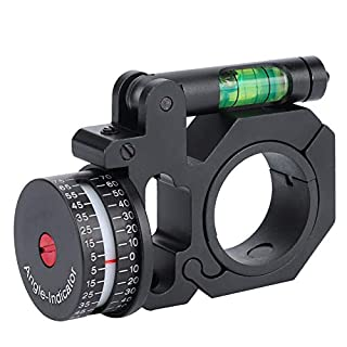 Tbest Scope Level Mount,Hunting Scope Bubble Level High Profile Scope Rings Mounts Durable Plastic Angle Degree Indicator (ADI/ACI) Bubble Level 30mm Mount for Scopes Hunting Shooting