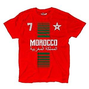 T-Shirt manner National Sport Marocco Marokko 7 fussball Sport Afrika Stella 1 KiarenzaFD Streetwear Shirts