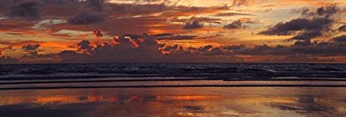 Wandmotiv24 Pared Trasera de Cocina Puesta de Sol en la Playa en Bali 180 x 60 cm W x H - 3...