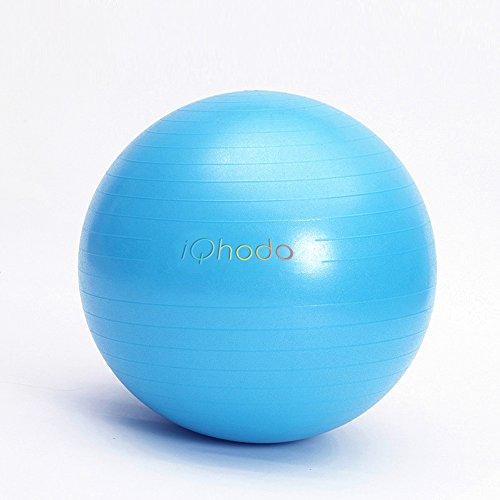 iQhodo Gymnastikball, 75cm Blau 2500LBS Anti Burst Stabilität Bälle für Balance, Physio Ball, Fitness Ball, Yoga Ball, Gebären Ball, Bürostuhl, Blue - 75CM - Kompressions-pumpe-therapie