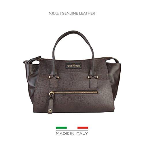 Made In Italia Bags, Borsetta da polso donna marrone Size: NOSIZE