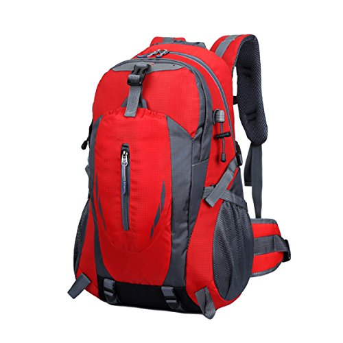 Im Freienberg Taschen Wasserdichte Nylonbeutel Paar Freizeitsporttasche,Black 301red
