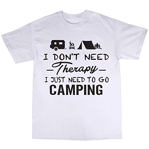 Camping Therapy T-Shirt 100% Baumwolle Wei�