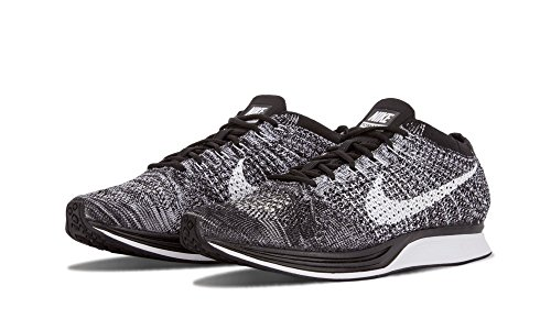 Nike Flyknit Racer, Chaussures de Running Entrainement Homme Black/White
