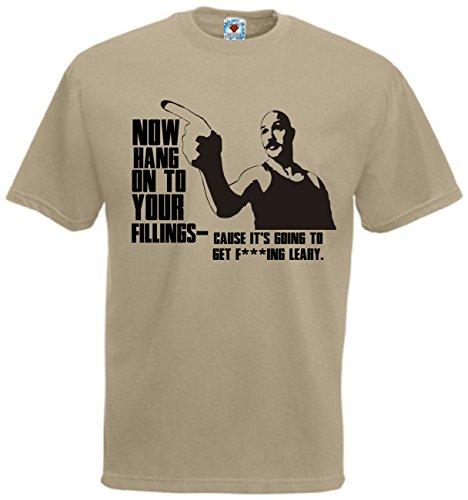 Bullshirt 's Herren 's Hold On To Your Füllungen T-Shirt. Sand