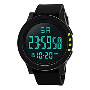 DOLDOA Sale Clearance for Mens LED Waterproof Digital Quartz Fashion Military Sport Watch for Running Hiking