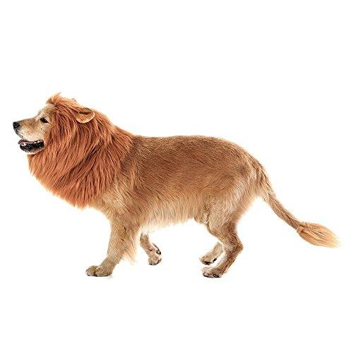 Imagen de airtana lion mane peluca para perro y gato disfraz con orejas ,puede ser limpiado mascota ajustable cómodo fancy león pelo perro ,ropa para halloween actividad de fiesta del festival de pascua