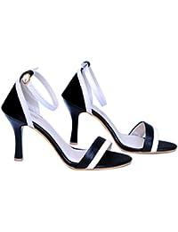 a7d9789d536 AnShe Girls Women s Nappa Leather Peep Toe   4 inch Pencil Heel Fashion  Sandals