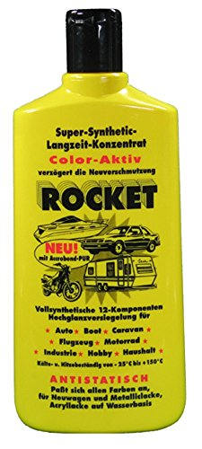 2x ORIGINAL Rocket Autopolitur 500ml, Hochglanzversiegelung für Auto, Flugzeug, Motorrad, Boot, etc.,