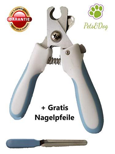 Pets&Dog Krallenschere | Krallenzange | Krallenpfelge für Hunde Katzen & Nager | Nagelschere für Hund & Katze | Krallenscheider | Premium Qualität | (L - Mittlere & Große Hunde)