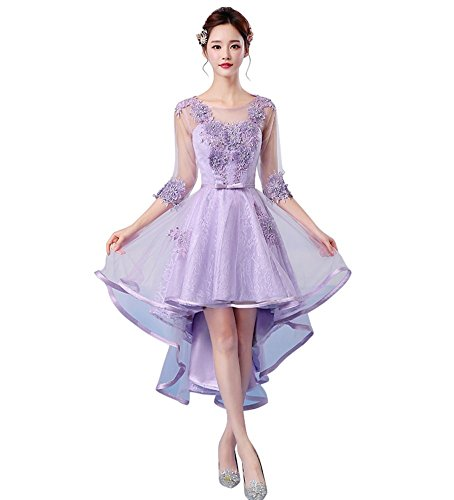 Drasawee Damen A-Linie Kleid Violett