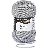 Schachenmayr Bravo 9801211-08376 hellgrau tweed Handstrickgarn, Häkelgarn