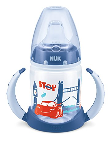NUK Disney Cars First Choice Learner Cup mit Trinktülle Silikon, 150ml
