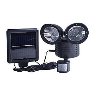 Solarleuchten für Außen, TechKen Solar Motion Sensor Licht 22 LED Wasserdichte Außenleuchte Licht Helle Gartenleuchte Mit Dual Head