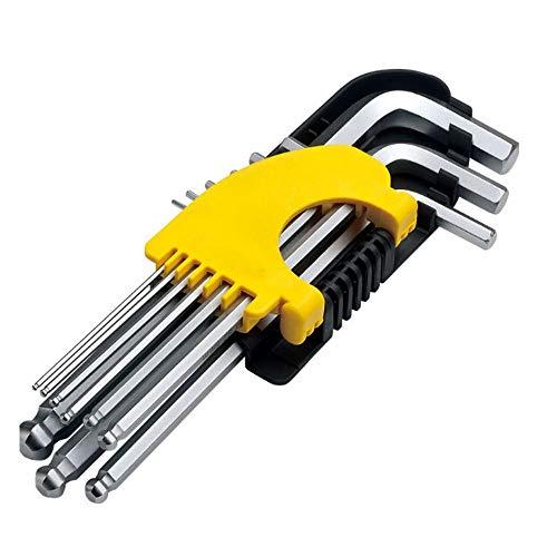 0 ℃ Outdoor Long Arm Torx Hex Key Allen Wrench Hex Keys Security Torx End Set Von 9 Stücken Mit Lagerkoffer -