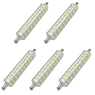 Aoxdi 5x R7s LED Bulb 10W, Cool White, 108 SMD 2835 R7S LED, Energy saving R7S LED Light Lamp 118mm, AC 220-240V