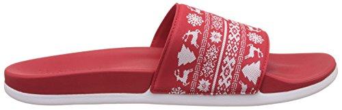 Adidas Unisex-Erwachsene Adilette Cf Xmas Flip-Flops, Rot (Escarl/Escarl/Ftwbla), 43 EU -