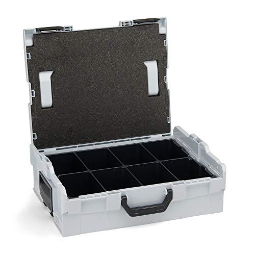 8-fach-lagerung (Bosch Sortimo L-Boxx 136 grau mit Einsatz 8-fach • LBoxx 136 Koffersystem für optimale Lagerung von Werkzeugen • Sicherer Transport & Schutz dank L-Boxx System)