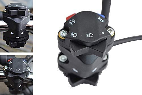 Motorrad Licht Hupe Kill Blinker Schalter für Motocross, Enduro, Supermoto - 22mm 7/8 Lenker