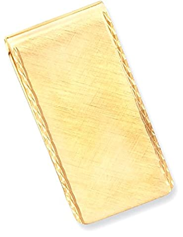 IceCarats Gold Plated Kelly Waters Swiss Cut Edge Money Clip Men Key Ring Wallet