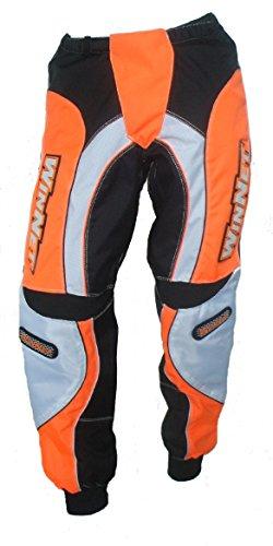 WinNet pantaloni per moto da cross arancio arancione ktm