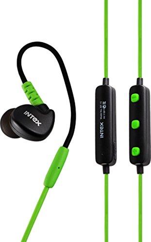 Intex BT-13 Wireless Sports Bluetooth Earphones - Green