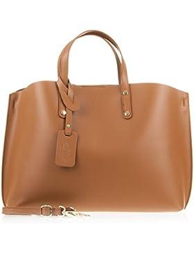 FIRENZE ARTEGIANI.borsa donna vera pelle.Borsa DONNA di vera pelle autentica rifinito Tamponato design shopper...