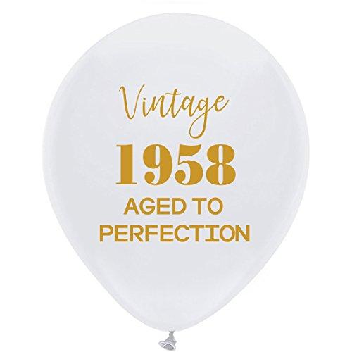 Luftballons-30,5cm (16) Damen und Herren Gold 60. Geburtstag Party Dekorationen oder Supplies ()