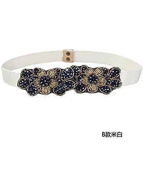SILIU*El desglose de la cintura elástica manualmente hembra decoradas en elegante y a la moda primavera y verano...