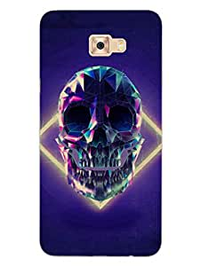 MADANYU Poly Skeleton Gothic Art Designer Printed Hard Back Shell Case For Samsung C7 Pro