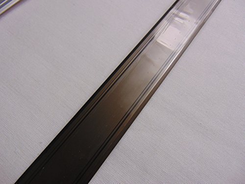 GedoTec® Alu Übergangsprofil SUPER-FLACH Übergangsschiene selbstklebend | 2000 x 30 mm | Bodenprofil Aluminium Bronze eloxiert | ungelochte Aluminium Abdeckleiste zum Kleben | Markenqualität für Ihren Wohnbereich