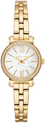 Michael Kors Sofie Women's Mother Of Pearl Dial Stainless Steel Analog Watch - MK