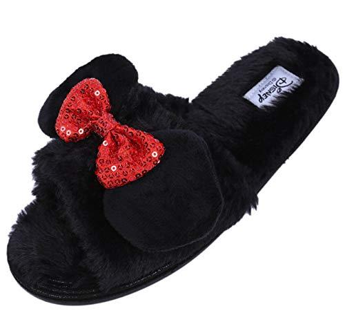 -:- Minnie Mouse -:- Disney -:- Schwarze Hausschuhe 38-39 / UK 5-6