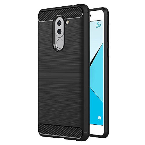 Funda Honor 6X, AICEK Huawei Honor 6X Funda Negro Gel de Silicona Honor 6X Carcasa Fibra de Carbono Funda para Honor 6X 5,5 Pulgadas