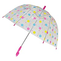 X-brella Childrens/Kids Polka Dot Birdcage Umbrella