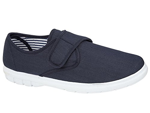 Mens Shoe Tree Wider Fitting Casual Canvas Pump Trainer Deck Shoes Loafer...
