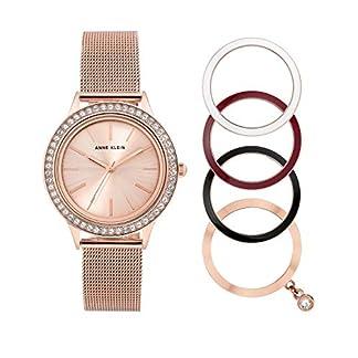 Reloj de Pulsera para Mujer de Anne Klein con Mecanismo de Cuarzo y Correa de Acero Inoxidable en Color Oro Rosa.